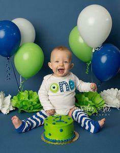 Monsters Inc- Little Monster/Boy First Birthday outfit/ Cake Smash Outfit