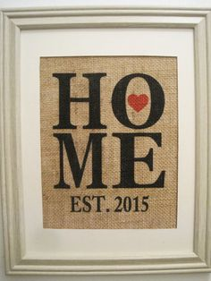 Burlap HOUSE WARMING GiftBurlap PrintBurlap by SunBeamSigns, $24.00