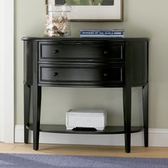 Powell 502-515 Black Demilune Console Entry Table - Home Furniture Showroom