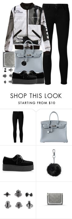 """""""Untitled #3959"""" by london-wanderlust ❤ liked on Polyvore featuring Goldsign, VFiles, Hermès, Topshop, BKE and STELLA McCARTNEY"""