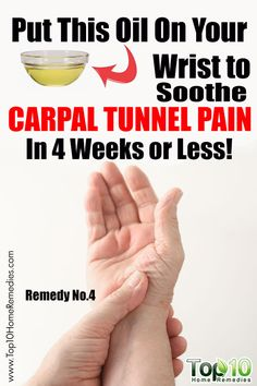 Put this oil on your wrist to soothe carpal tunnel pain in 4 weeks or less! Natural Headache Remedies, Natural Home Remedies, Natural Healing, Holistic Healing, Natural Life, Natural Living, Natural Beauty, Holistic Remedies, Herbal Remedies