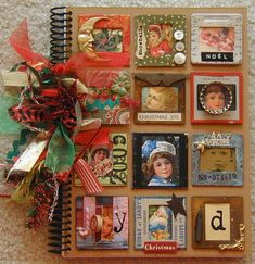 vintage Christmas book - this is really cool. I have never really scrap booked before, but I have been considering it and this is definitely inspiring.