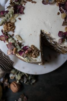 pumpkin ginger walnut and date cake with mascarpone cream | Recipe from Twigg Studios