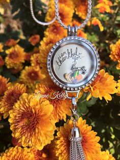 I am thankful for..... Origami Owl large locket with a dangle collector, https://carri.origamiowl.com