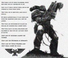 Warhammer 40K - Space Marine Quote