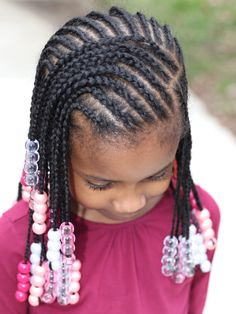 Natural Hair Styles for Girls Toddler Braided Hairstyles, Little Girl Braid Hairstyles, Little Girl Braids, Girls Natural Hairstyles, Natural Hairstyles For Kids, Baby Girl Hairstyles, Girls Braids, Toddler Braid Styles, Toddler Hair