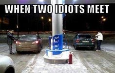 Two Idiots Meet #Free-Funny-Pictures, #Funny-Pictures, #IDIOTS, #Meet, #Two