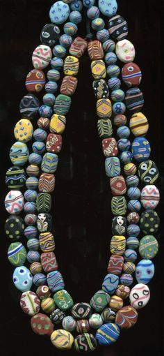 Trade Beads | Antique Venetian beads circa late 1800's, early 1900's