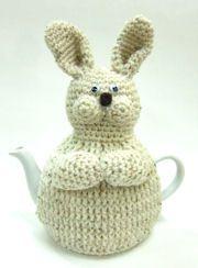 ❄Crochet Tea Cosies, Mug Hug Snugs and Cuppa Cosies.    Bunny rabbit❥