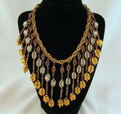 Monet Jewelers 1930s Fringe Bib Choker by GrapenutGlitzJewelry, $199.99