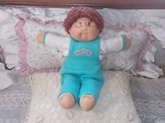Cabbage Patch Doll 1982, Vintage Cabbage Patch Doll, Xavier Roberts, Looped Brown Haired Cabbage Patch Doll, Dolls ,Vintage Dolls by Daysgonebytreasures on Etsy
