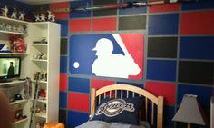 MLB baseball bedroom 1