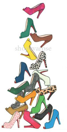 louboutins falling from the sky! new print <3