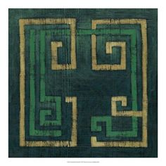 Great Big Canvas 'Emerald Diversion I' Chariklia Zarris Graphic Art Print Format: White Frame, Size: H x W x D My Canvas, Artist Canvas, Outdoor School, Furniture For Small Spaces, Print Format, Giclee Print, Art Print, Line Art, Framed Artwork