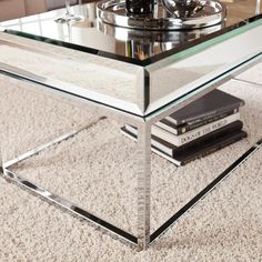 silver mirrored coffee table | farriers décor | house | pinterest