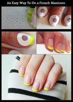 Super How To French Manicure Diy Beauty Nails Ideas Manicure Tips, Manicure Colors, Manicure At Home, Nail Tips, Nail Art Tricks, Nail Painting Tips, Home Nail Salon, Nail Polish Hacks, Diy Nails At Home