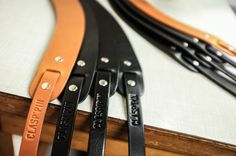 CLASP'PIN manufactured goods, backpacks, belts, leathergoods