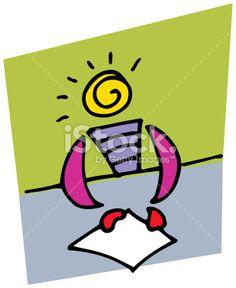 document presentation Royalty Free Stock Vector Art Illustration