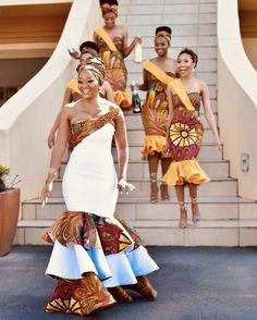 African Print Dress Designs, African Print Fashion, African Fashion Dresses, African Dress, African Design, African Traditional Wear, African Traditional Wedding Dress, Traditional Wedding Attire, African Bridesmaid Dresses