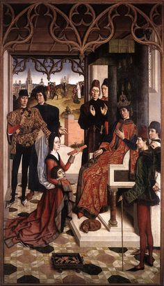 """Ordeal by fire"" and ""Execution of the innocent Count"" by Dieric Bouts, 1460"