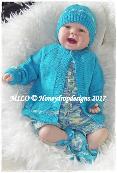 PAPER KNITTING PATTERN Honeydropdesigns Baby//Reborn 0-3 Months approx Echo