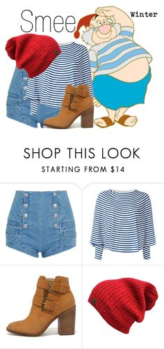 """""""Smee~ DisneyBound"""" by basic-disney ❤ liked on Polyvore featuring Pierre Balmain, MM6 Maison Margiela and Steve Madden"""