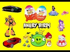 Kinder Joy Surprise Eggs Angry Birds Transformers Robot Unboxing | Disney Toy Story Cars for Kids #KinderJoy #SurpriseEggs #AngryBirds #Transformers #Robot  #Disney #ToyStory #Cars