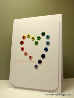 Handmade CAS Love card with eyelets.