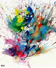 Chaotic Craziness Series 2109.040514-Abstract Painting Artist: Haas, Kris