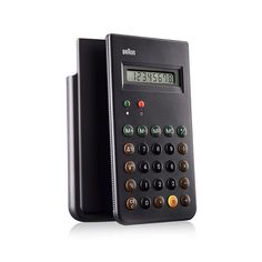 The 8-digit Braun ET66 Calculator was designed by Dieter Rams and his longtime design partner Dietrich Lubs for Braun in 1981 and has become an icon of modern design. This classic calculator can be fo