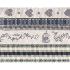 Faith, Hope, Love Birds  A Variety of attractive and Quality pre-packed ribbons are ideal to use for scrapbooking, decorative purposes, gifts, etc.  Our range of Ribbon includes mainly petersham ribbons as well as uniquely designed cotton and linen ribbons.   These ribbons come i a pre-packed unit of 5 x 1m.