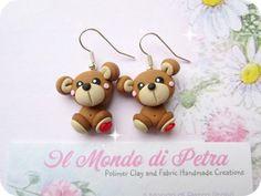 Original Handmade Sweet litte bear Earrings by IlMondodiPetra
