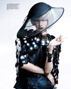"""Future Reflection"" | Models: Dual Kim & Kyung Ah Song, Photographer: Hong Lu, Vogue Korea, September 2008"
