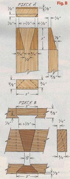 Dovetail joints explained.