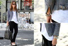 Topshop Jacket, Monki Top, Cheap Monday Jeans, Zara Shoes, Céline Bag, Céline Sunglasses