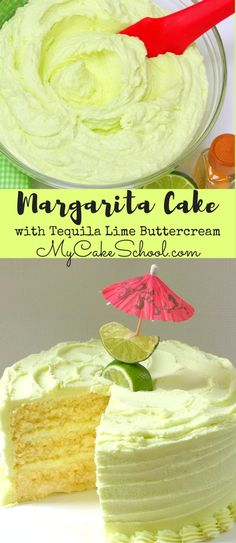 Amazing Margarita Cake with Tequila Lime Buttercream Frosting! Such a flavorful party cake! YUM! #Margarita #margaritacake #tequila #lime