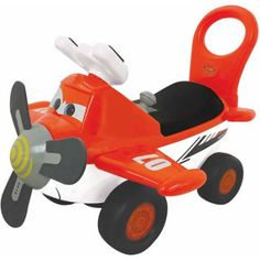 Kiddieland Disney Planes Fire & Rescue Dusty Activity Ride-On, Multicolor