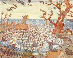 Oskar Laske : Galerie bei der Albertina Compleat Angler, Walpurgis Night, Mermaid Purse, Divine Mother, Psychedelic Art, Cover Art, Illustration Art, Illustrations, Vintage World Maps