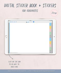 Book Works, App Support, Digital Journal, Planner Book, Work From Home Moms, Sticky Notes, Ipad Pro, Etsy Handmade, Planners