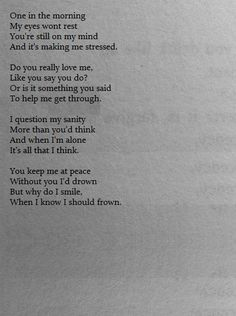 This is really beautiful, but I'm really glad I'm finally over the person that used to cause me this sort of pain.
