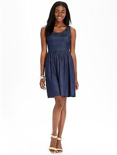 I bought something like this but its chambray with pink polka dots, which I love even more!
