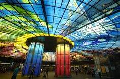The Dome of Light, inside Taiwan's Formosa Boulevard Station