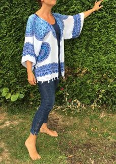 Bulles de cerises: DIY : transformer un paréo en kimono... trop facile !!!
