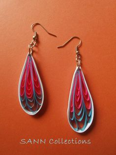 Hi i am making paper quilled earring in many shapes and Colurs. Pls chk it n pin it.