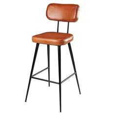 Chaise de bar en cuir de ... - Clapper