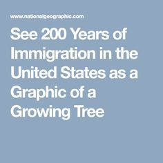 See 200 Years of Immigration in the United States as a Graphic of a Growing Tree Tree Rings, Growing Tree, Data Visualization, United States