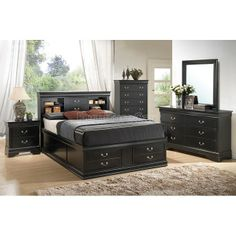 Coaster Fine Furniture Louis Philippe Dark Wood Tone King Captain Bed with Storage Double Bed With Storage, Platform Bed With Storage, Bed Frame With Storage, Queen Size Storage Bed, King Storage Bed, Storage Beds, Bedroom Furniture Sets, Bed Furniture, Furniture Vintage