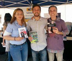 Con Eva Violán y Carlos Felipe Martell.