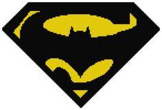 Counted Cross Stitch Pattern Batman vs. Superman Logo #2 by DreamyMemories, $4.25