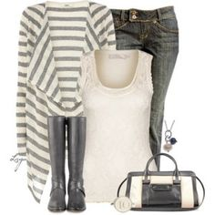 Lace & Stripes (probably a different purse)